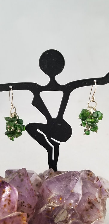 Green Agate Chip Earring