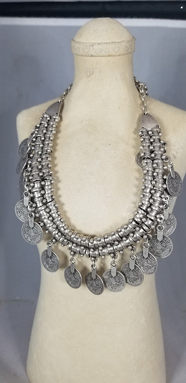 Awesome Pewter Coin Necklace