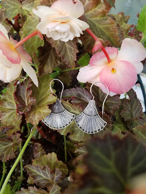 Sterling Lotus Earrings