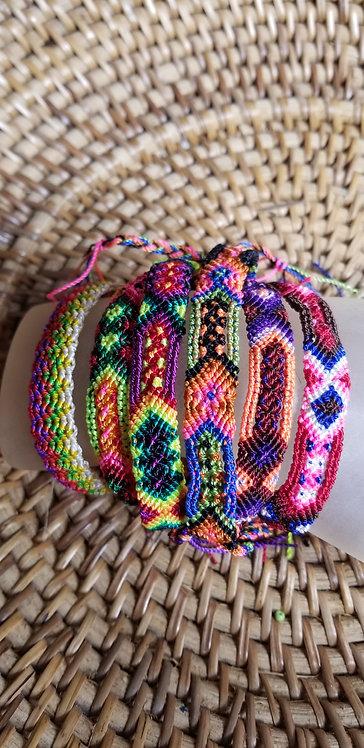Three Woven Tie Bracelets