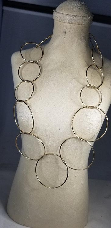 Brass Circle Necklace
