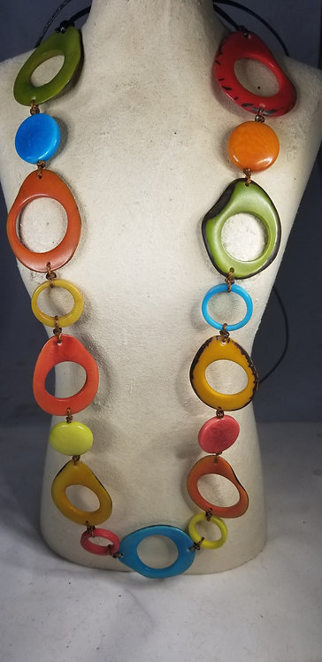 Very Colorful Tagua Necklace