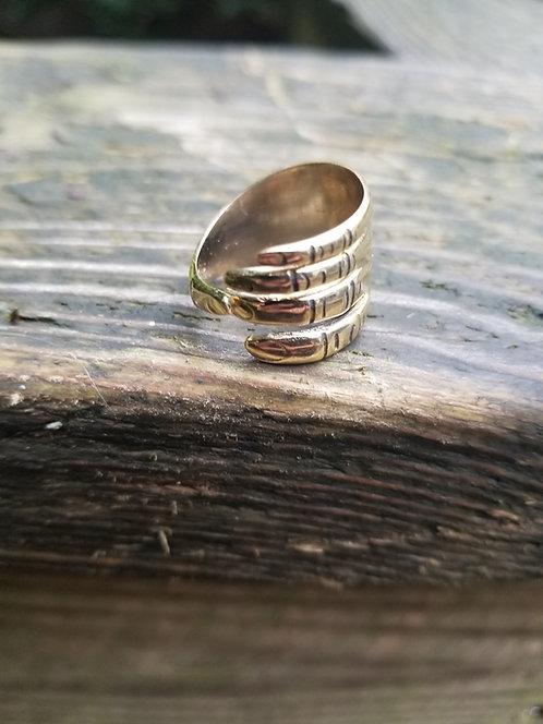 Brass Fingers Ring