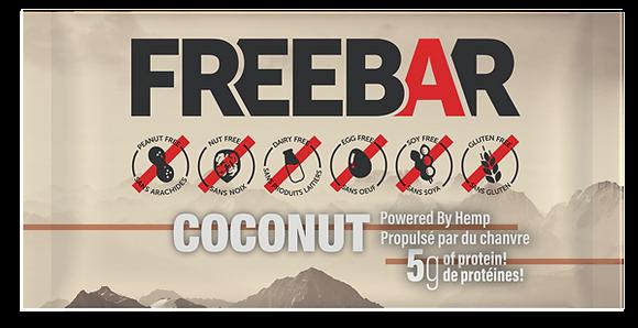 FREEBARS 3 Pack Sample - Coconut