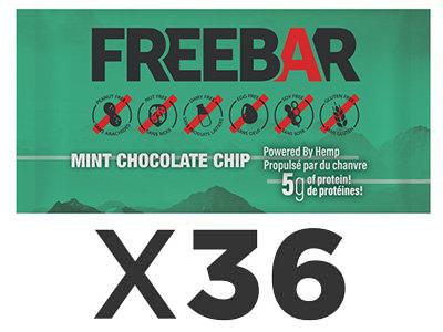 FREEBARS 36 Pack - Mint & Chocolate Chip