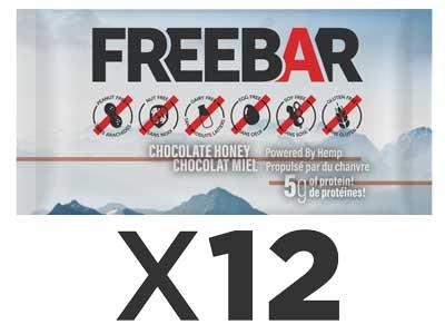 FREEBARS 12 Pack - Chocolate Honey