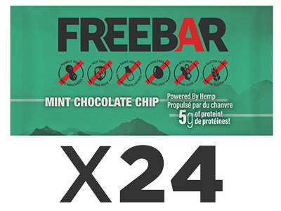 FREEBARS 24 Pack - Mint and Chocolate Chip