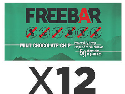 FREEBARS 12 Pack - Mint and Chocolate Chip