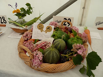 Prizewinning basket of produce