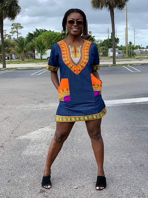 African shirt dress