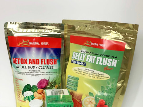 Copy of Diet combination belly fat flush and detox