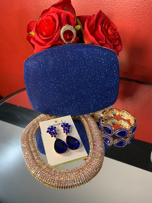 Clutch and earring set