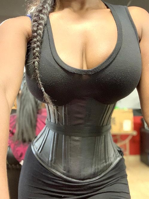 Bone steel side zipper short torso