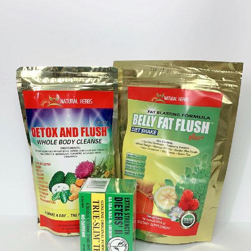 Belly fat flush and detox tea
