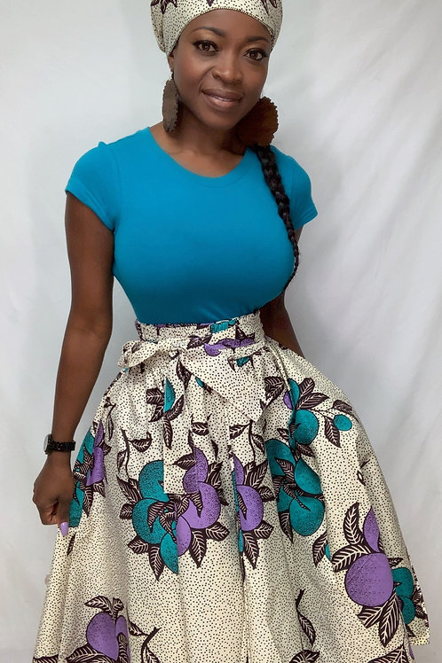 African skirt knee length