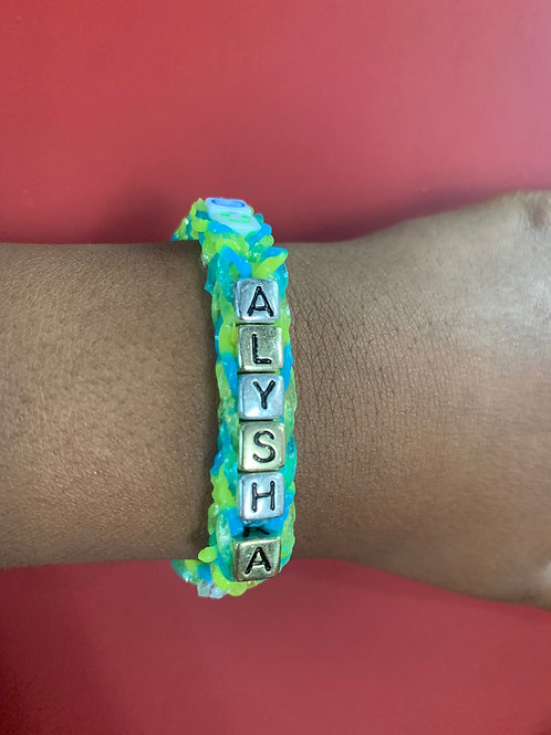 Customize bracelets with your child name