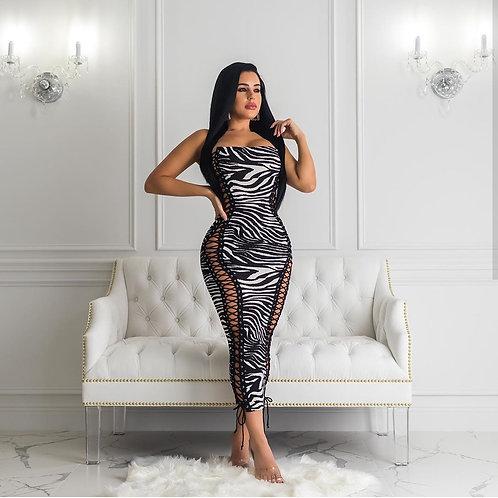 Zebra sexy dress