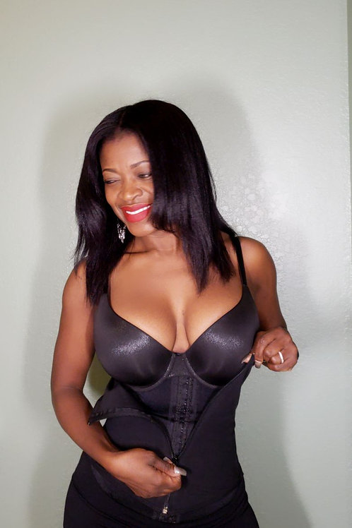 Soft corset hooks and zipper corset