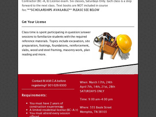 Residential/Commercial License Exam Prep Workshop