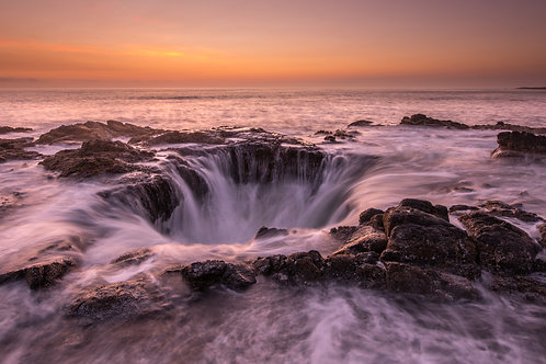 THOR'S WELL (looking west at sunset)