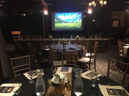 Awards Banquet Set-up w/ A/V