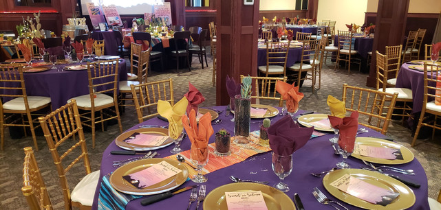"""Unique Set-up for Fundraiser Gala, """"Sunset in Sedona"""""""