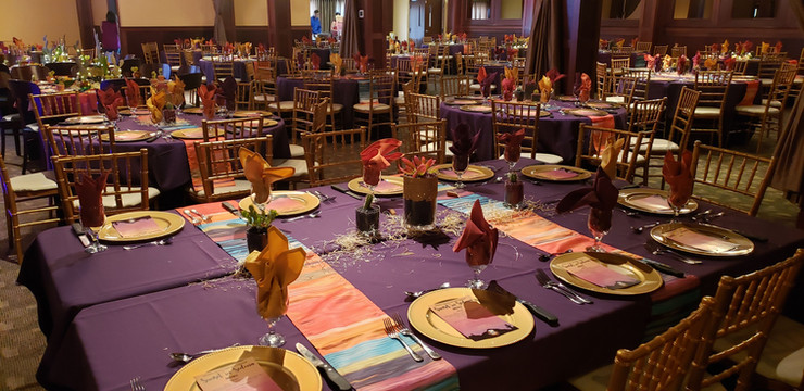 Round and Rectangular Tables Available
