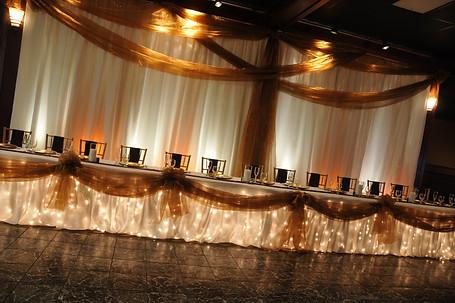 Lighted Head Table and Dance Floor