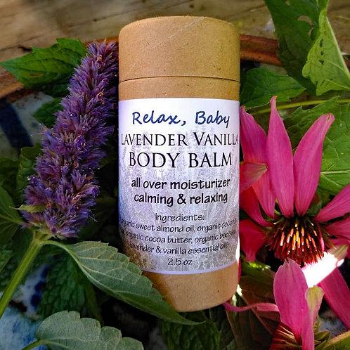 Lavender Vanilla Body Balm - Relax, Baby