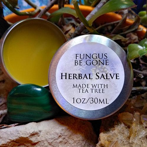 Fungus Be Gone Salve w/tea tree-vegan-1 oz