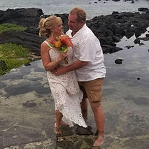 Couple gets married and requests donations.