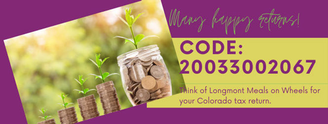 Donate Colorado Tax Return Longmont Meals on Wheels