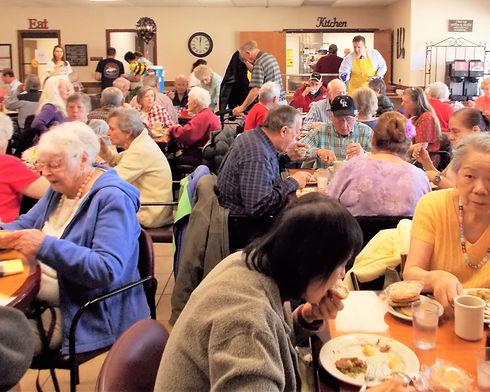 lunch at the Longmont Senior Center