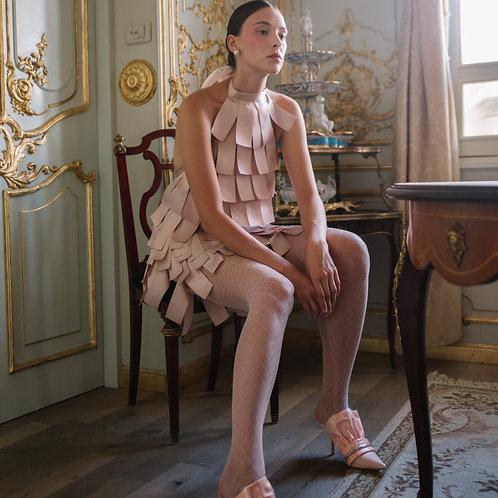 ribbon short dress