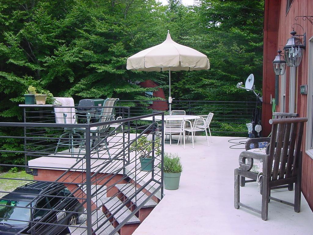 North deck - hand welded rod railings