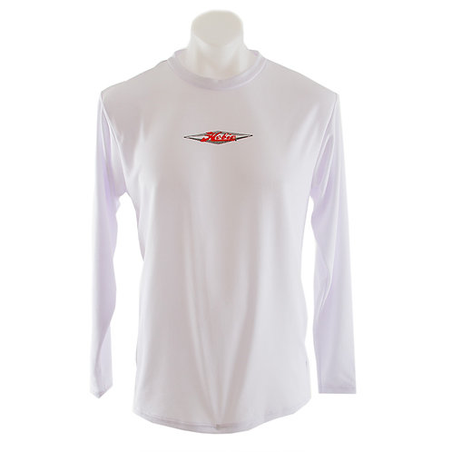 Mens Sport Longsleeved Tshirt Red Logo Front