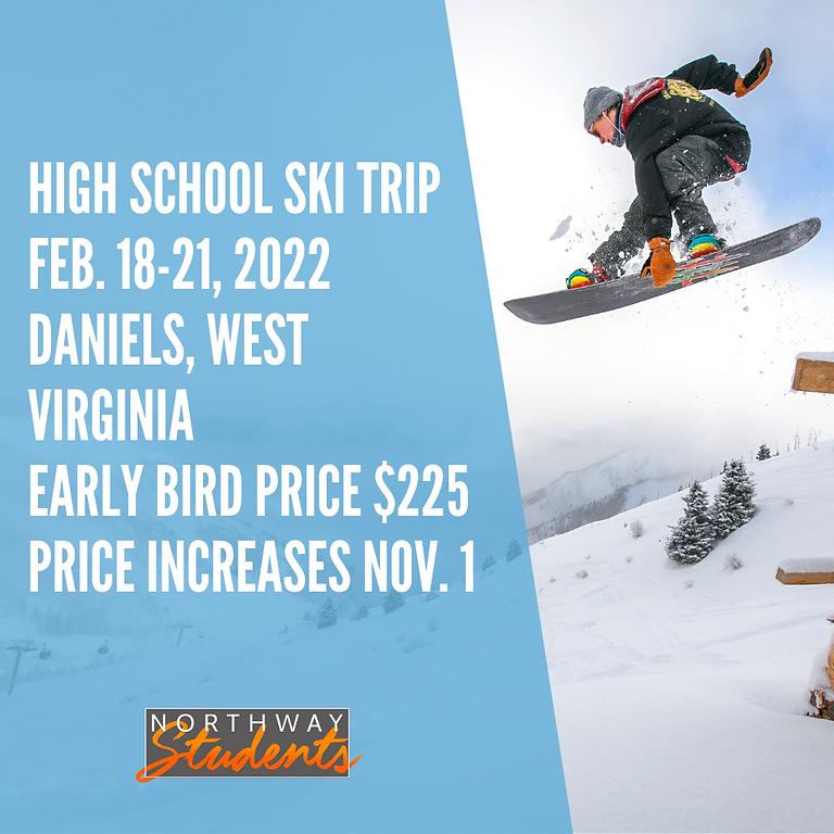 Guys Student Ski Trip