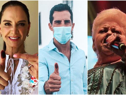 Actores, cantantes y deportistas: estos fueron sus resultados en las urnas