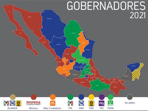 Así se va definiendo el nuevo mapa político de México