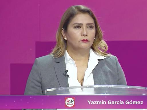 Destaca con propuestas y proyectos, Yazmin García en debate entre candidatos a la Benito Juárez