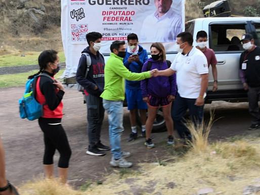 Apoyo a deportistas de élite de Xochimilco y Milpa Alta, el compromiso de Enrique Guerrero