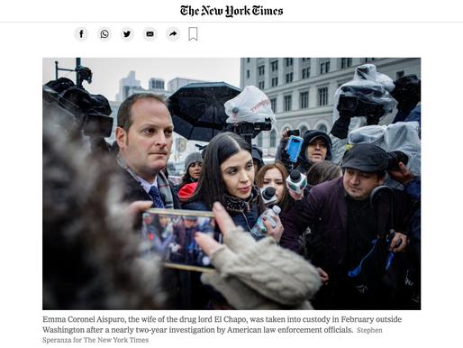 """Emma Coronel, esposa de """"El Chapo"""" se declarará culpable en EU, revela NYT"""