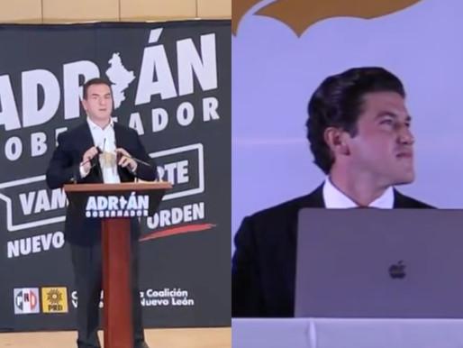 Se declaran victoriosos en Nuevo León, Samuel García y Adrián de la Garza