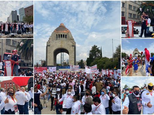 RSP: La ola roja progresista toma el Monumento a la Revolución rumbo al 6 de junio