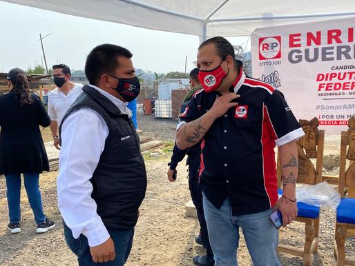 RSP-CDMX elogia labor de Enrique Guerrero: es un hombre de trabajo y esfuerzo