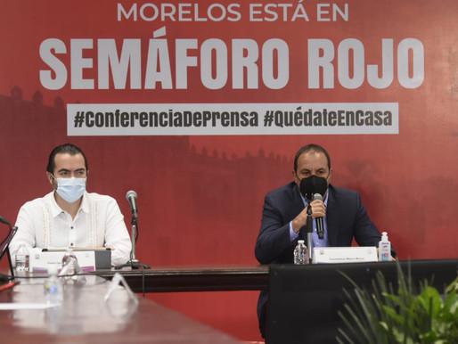 Es urgente disminuir la movilidad: Cuauhtémoc Blanco al declarar semáforo rojo en Morelos