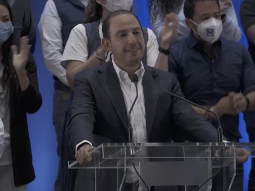 Marko Cortés asegura que PAN triunfó en Querétaro y cinco estados más
