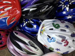 a variety of helmets from £10