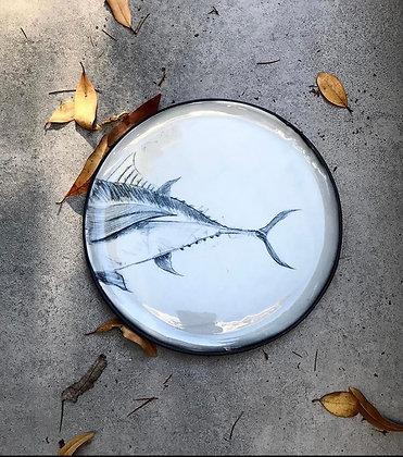 Karakalem Çizim Porselen Tabak
