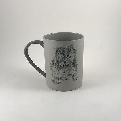 Karakalem El Çizimi Mug